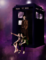 Sherlock and Loki as companions of the Doctor. by NoodleSayYeah