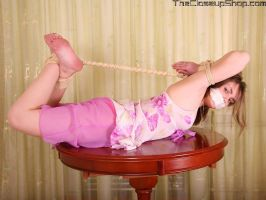 Lolo - Arms up hogtied 03 by Stervus