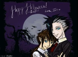Halloween 2007 - Kit and Da by IrisHime