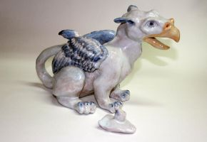 Gryphon Teapot - Lid Off by KateStehr