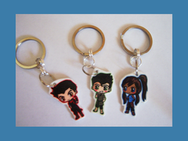 Avatar Legend of Korra Chibi Charm Keychains by IcyPanther1