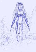 BLUE SKETCH 45  Storm 2 by Mich974