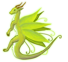 Open 35 points Green Fairy Dragon by Ravenskysong