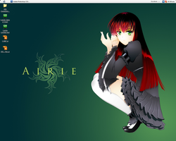 My Green and Lovely Desktop by Isthell