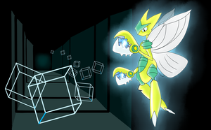 Shiny Mega Scizor by Shadow-Pikachu6