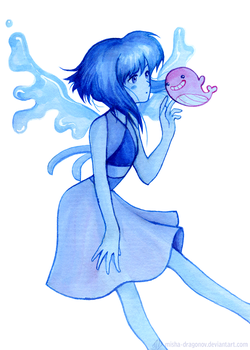 Lapis and Tiny Floating Whale by misha-dragonov