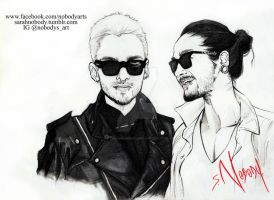 Kaulitz Twins [2013] by SarahNOBODY