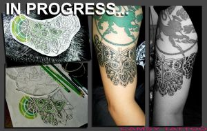 Johann's unfinished dotwork by camsy