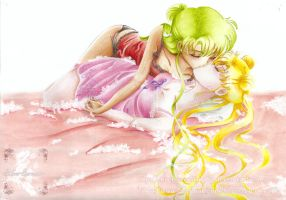 Setsuna X Usagi - Kiss me sweet by SilverSerenity1983