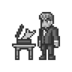 Lurch Tumblr Pixel Art Raffle Sprite for Skid-marq by JustinGameDesign
