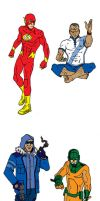 The Flash- redesigns by CrimeRoyale