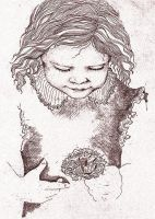 Etching - Flower Child by RatWrangler