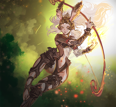Fran, The Queen of Archery by kaifuu