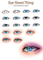 Eye Sheet Thing by marshmallowcurrypuff
