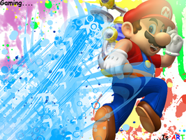 Super mario sunshine wallpaper by Klaien