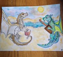 Dustdevil and Eel (Water Color) by eelsause