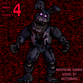 Nightmare Bonnie By HectorMKG in blender by AndyDatRaginPyro