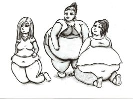 Random Big Bellied Ladies by GuttLoverz