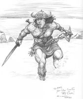 Conan in Asgard by Meador