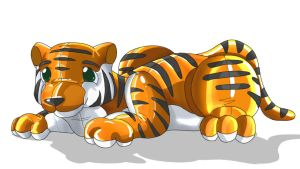 Inflatable Toy Tiger for max by DrgnAlexia