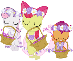 Cutie Mark Crusaders as Flower Fillies by 90Sigma