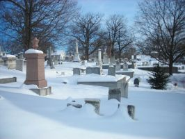 Graveyard Snowscape 1 by Kittywitchthesecond
