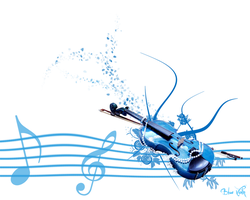 Blue Violin by leingad