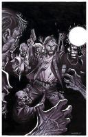 Zombie Attack- Marker Illo by ChristopherStevens