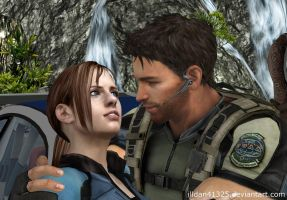 Chris Redfield and Jill Valentine by illdan41325