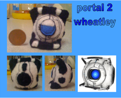 portal 2 mini wheatley plush by Jack-O-AllTrades