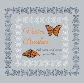 Hand drawn vector brushes with inner and outer cor by ElenaNaylor