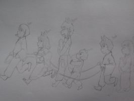Follow the leader! by AbominalSnowDemon