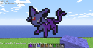 Minecraft Espeon by TheCorrupted