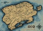 World of Uon - fantasy map for RPGSoc by Jynt0