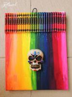 Crayon melting with 3D mexican skull by killswitch90