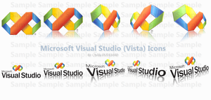 Microsoft V S Vista Icons by Crashoverload Iconos para Windows XP