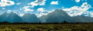 Grand Tetons Pano #2 by KRHPhotography