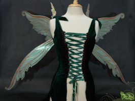 Light Green fairy wings front by FaeryAzarelle