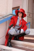 Alucard on the look out by Prota-Girl