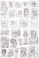 Sketches, November + December 2012 by HannaKN