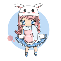 Bunny-chan wus here by Mhiemi