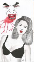 Vampire and Girl by BipolarBrand