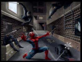 Spiderman Battle by embrand78