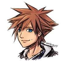 Sora sketch by Sealkittyy