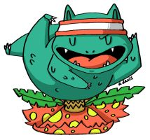 003: venusaur by heartpuncher