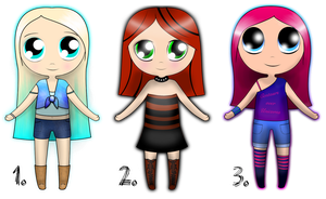 ADORABLE CHIBI GIRL ADOPTABLES! MAKE-AN-OFFER! by DailyAdoptables