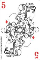 5 of diamonds by vasodelirium