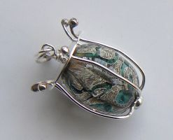 Caged Bead Pendant by Athalour