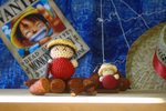 Hand-Crocheted Monkey D. Luffy in two sizes! by hookedonchibis
