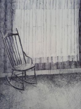chair by a window by Ayjee